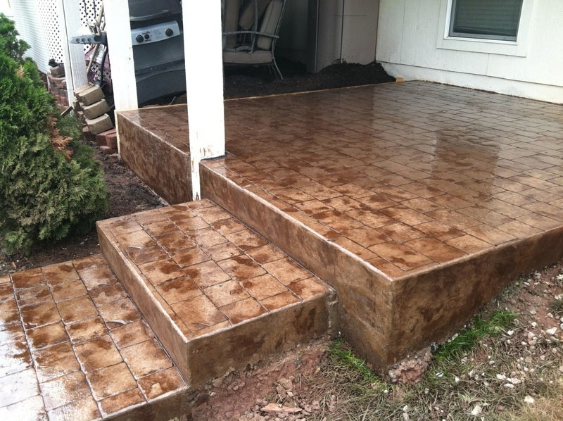 Stamped Concrete Gallery. Acid Stain Patio ...